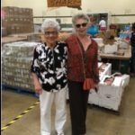 Dorothy Bunch, left with her volunteer friend Mikki Williams