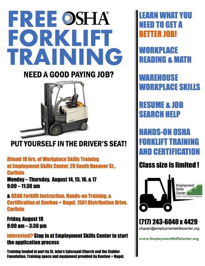 August 2017 Forklift Flyer